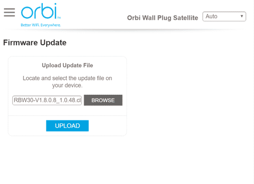 orbilogin.com Firmware Update